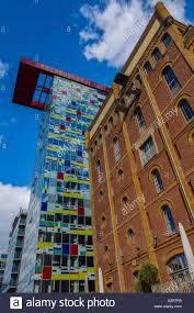 Deutschland Düsseldorf Nrw Medienhafen Hafen Bunt Haus