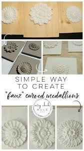 diy carved wood medallions you can