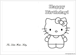 Later, her image decorated almost every gadget which you could imagine (including our coloring books:) she has a birthday on november 1st, which. Hello Kitty Happy Birthday Greeting Cards Coloring Pages Cartoons Coloring Pages Free Printable Coloring Pages Online