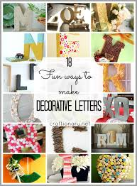 Decorative Letters Craftionary
