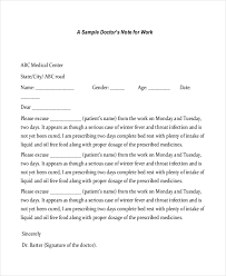 how do you get a doctors note for work free 8 sample doctors note in pdf doc