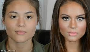 extreme contouring is used to change the shape of the face and features often