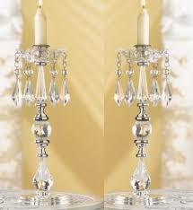 crystal chandelier metal candle holder centerpiece