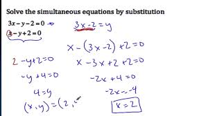 enchanting simultaneous equation substitution equations gcse full size