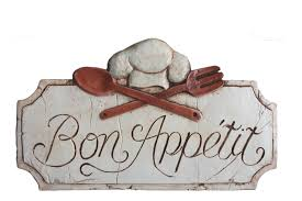 Bon Appetit Wall Decor Plaques Signs Bon Appetit SignFrench Bon Appetit Kitchen sign Restaurant Wall Art 95