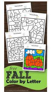 Download and print turtle diary's alphabet coloring worksheet. Super Cute Free Fall Color By Letter