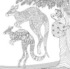 Small Picture Kangaroo coloring page Animal Coloring Pages for Adults