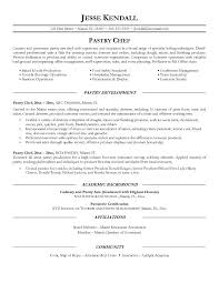 pastry chef resume