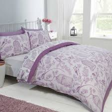 topic to st076 devonshire collection lover swans lilac purple bedding set and cur