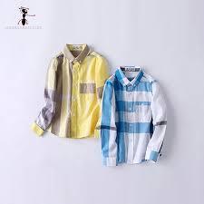 <b>Kung Fu Ant</b> Spring Autumn Plaid Full Sleeve 4 Color Cotton Boys ...