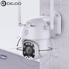 Digoo DG ZXC40 320 Độ PTZ 5MP 1080P 8 Đèn LED Tốc Độ Wifi Dome Hồng Ngoại  Nhìn Đêm Ngoài Trời An Ninh Giám Sát camera Quan Sát|Đồng Hồ Báo Thức