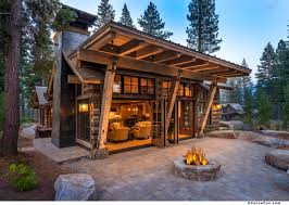 Contemporary Cabins Wyoming Rustic Modern Cabin Google Search Casas Pinterest