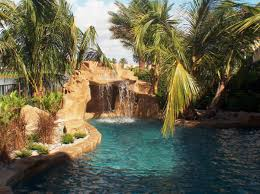 in ground pools with waterfalls. Pool Waterfalls In Ground Pools With