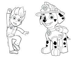 Paw Patrol Coloring Pages To Print Free Printable Colouring Of Ryder