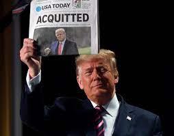 """ترامب يقول بعد تبرئته في مجلس الشيوخ إن حركته السياسية """"بدأت للتو""""   تايمز  أوف إسرائيل"""