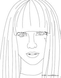 lady gaga coloring pages. Modren Gaga Lady Gaga Face View Close Up Coloring Page More Sheets  On Hellokidscom Intended Coloring Pages A