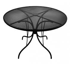 42 round galvanized steel mesh commercial outdoor table top coffee tables chairs quot barne