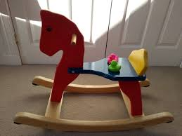 wooden rocking horse for small child