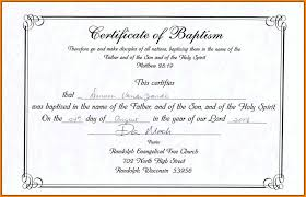 Free Baptism Certificate Template Word Drabble Info
