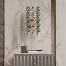 italian murano glass art deco inspired wall light