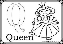 Small Picture Q Coloring Pages Letter Q Coloring Page For Preschool Kids Bulk