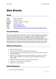 Mobile Resume Builder Mobile Resume Builder Ben Droste Curiculum Vitae Detail Name Dob 1