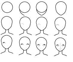 how to draw anime heads step by step for beginners. Fine Step How To Draw An Anime Face By Dixiefrog  On To Draw Anime Heads Step By For Beginners