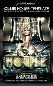 House Music Flyers Templates Top 10 Best Electro House Club Psd