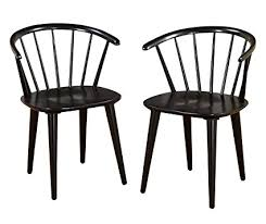 black windsor chairs. Target Marketing Systems Set Of 2 Florence Dining Chairs With Low Windsor Spindle Back, Black I