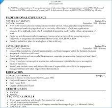 Sap Basis Fresher Resume Format Igniteresumes Com