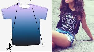 T Shirt Design Ideas Cutting 5 Diy Summer Ideas To Cut Your T Shirts