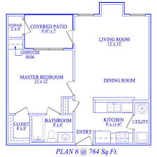 bedroom floor plan. One Bedroom Floor Plan 13