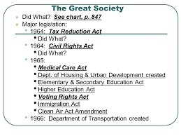 The Great Society Chapter 28 Section 3 Major Events 1963