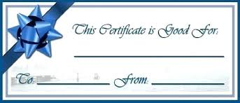 Make Your Own Gift Certificate Free Printable Create Gift Certificate Template