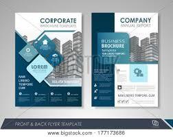 Design Brochure Template Modern Blue Brochure Vector Photo Free Trial Bigstock