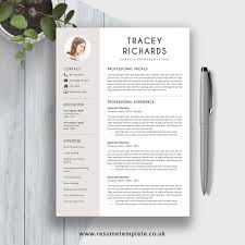 Simple Resume Template Cv Template 2019 Cv Layout Cv Design Fully Editable Ms Word Cover Letter And References For Digital Instant Download