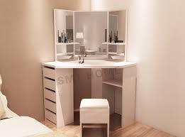 Corner Dressing Table Design China Wooden White Corner 5 Drawers Dressing Table With