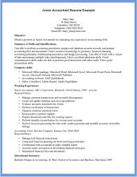 Templates Cpa Resum Template Junior Accounting Work Experience