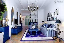 cozy blue black bedroom. Cozy Blue Living Room With Striped Black And White Sofa Table Classic  Style Rug Chandelier Cozy Blue Black Bedroom G