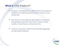 what is cgu padlock padlock is designed to cater for the commercial property owner landlord