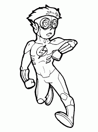 Small Picture Kid Flash Chibi Drawing Sketch Coloring Page Coloring Home