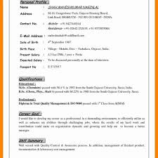 Examples Of Resumes New Resume Templates Personal Profile Format In Examples Of Resumes