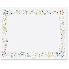 Confetti Stars Casual Certificates Recognition Items Pinterest