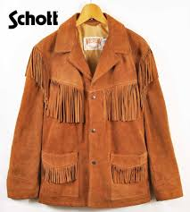 schott shot weastern cow sprit fringe jacket western cow split fringe jacket fringe suede jacket camel system brown 40 men s m equivalency made in usa