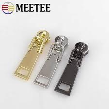 <b>MEETEE</b> 10pcs Zipper Head <b>High grade</b> Zippers for Sewing Zipper ...