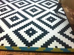 black and white checd rug