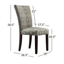 inspire q catherine print parsons dining side chair set of 2 grey link fabric side chairs set of 2 rubberwood