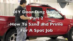 diy sand and prime how to prep and prime a spot touch up job on a car you