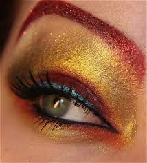 geeky eyeshadow ironman costume woman costumes ic book makeup eye superhero eyeshadows