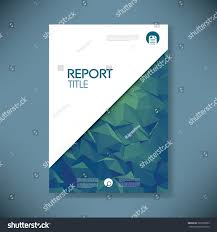 business report cover page template royalty free business report cover template on green 360790622